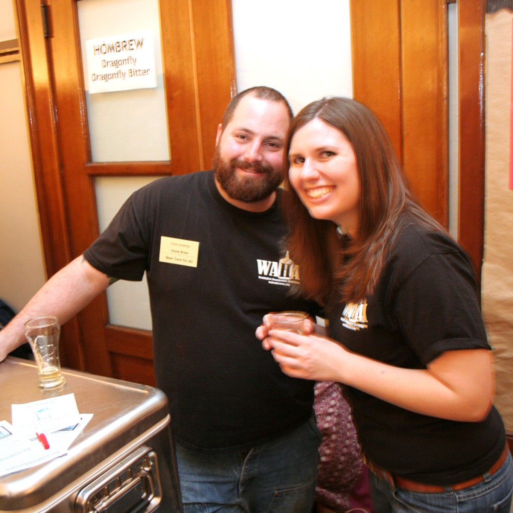 Bekky and me representing the Washington Homebrewers Association. Next to me was Ryan Hilliard pouring some of his great beer.